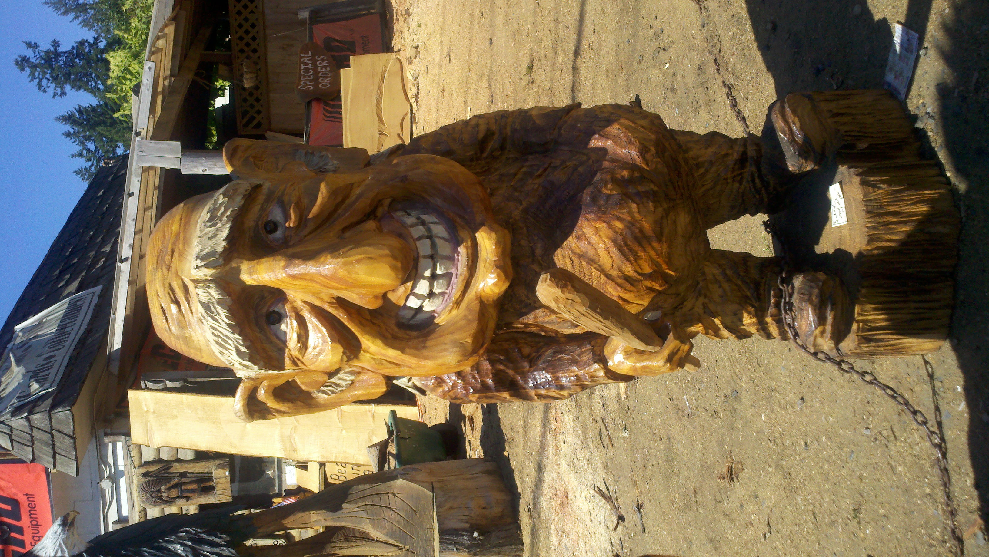 Chainsaw carved gnome or troll what is this