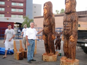 Chainsaw Carved Bigfoot